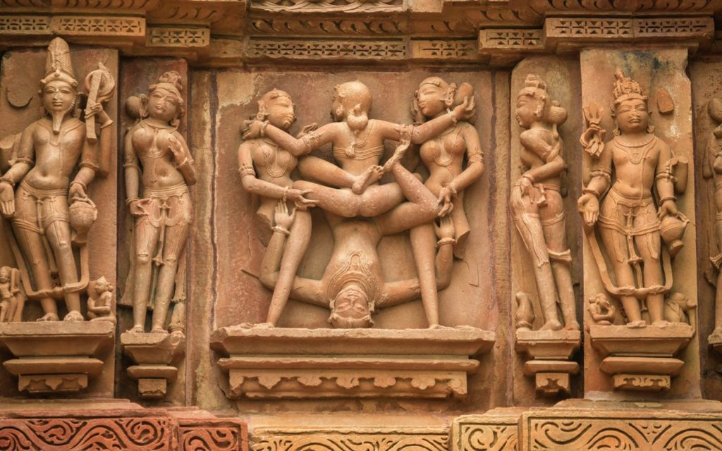 Erotic Khajuraho Temple